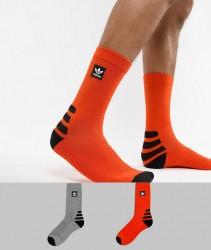 Adidas Skateboarding 2 Pack Socks in Orange DH2567 - Orange