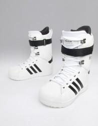 adidas Snowboarding Superstar ADV Snowboard Boots in White - White