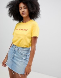 Adolescent Clothing born to be mild t-shirt - Yellow