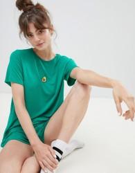 Adolescent Clothing embroidered avocado t-shirt and shorts pyjama set - Green