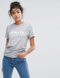 Adolescent Clothing Female Forever T-Shirt - Grey