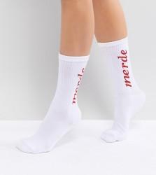 Adolescent Clothing Merde Socks - White