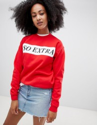 Adolescent Clothing so extra sweatshirt - Red