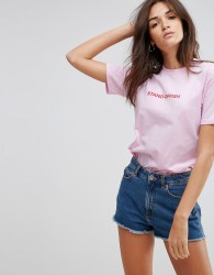 Adolescent Clothing Stand-Offish T Shirt - Pink