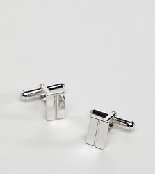 Aetherston Hampton Cufflinks In Sterling Silver - Silver