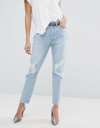 AGOLDE Jamie Hi Rise Straight Jean with Rips - Blue