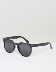 AJ Morgan Actualize Round Sunglasses In Matte Black - Black