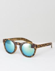 AJ Morgan Apolla Round Sunglasses In Tort - Brown