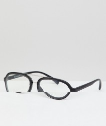 AJ Morgan Aviator Clear Lens Glasses In Silver - Silver