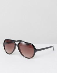 AJ Morgan Aviator Sunglasses In Brown - Brown