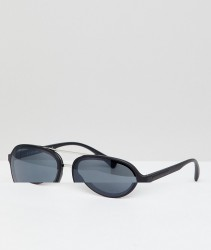 AJ Morgan Aviator Sunglasses In Matte Black - Black