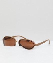 AJ Morgan Aviator Sunglasses In Matte Brown - Brown
