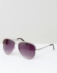 AJ Morgan Aviator Sunglasses - Silver