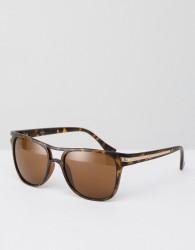 AJ Morgan Bridge Square Sunglasses In Tort - Brown