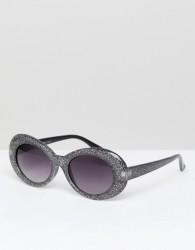 AJ Morgan Cat Eye Sunglasses In Black Glitter - Black