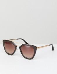 AJ Morgan Cat Eye Sunglasses In Brown - Brown