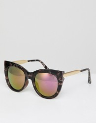 AJ Morgan Cat Eye Sunglasses In Tort - Brown