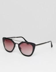 AJ Morgan Cats Eye Sunglasses In Black - Black
