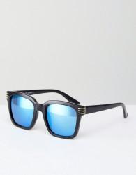 AJ Morgan Crux Square Sunglasses In Black - Black