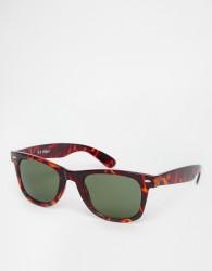 AJ Morgan Fresh Square Sunglasses In Tortoishell - Brown