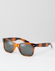 AJ Morgan Hey Ya Square Sunglasses In Tort - Brown