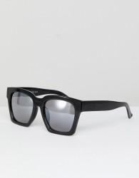 AJ Morgan Knock Square Sunglasses In Black - Black