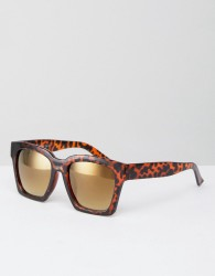AJ Morgan Knock Square Sunglasses In Tort - Brown