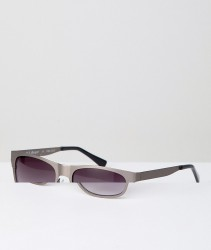 AJ Morgan Metal Square Sunglasses In Gunmetal - Silver