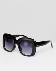 AJ Morgan Oversized Cats Eye Sunglasses In Black - Black