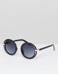 AJ Morgan Oversized Round Sunglasses In Black - Black
