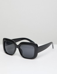 AJ Morgan Oversized Square Sunglasses In Black - Black
