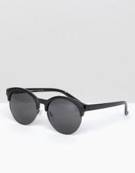 AJ Morgan Retro Sunglasses In Black - Black