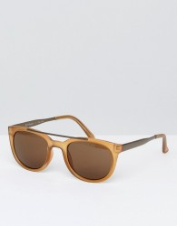 AJ Morgan Round Sunglasses In Amber - Gold