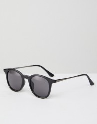 AJ Morgan Round Sunglasses In Black - Black