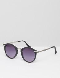 AJ Morgan Round Sunglasses In Black - Black
