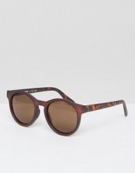 AJ Morgan Round Sunglasses In Brown - Brown
