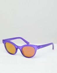 AJ Morgan round sunglasses in matte purple - Purple