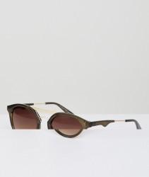 AJ Morgan Round Sunglasses In Olive - Green