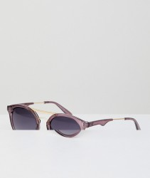 AJ Morgan Round Sunglasses In Purple - Purple