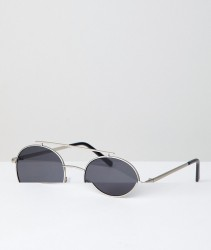 AJ Morgan Round Sunglasses In Silver - Silver