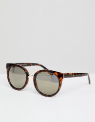 AJ Morgan Round Sunglasses In Tort - Brown