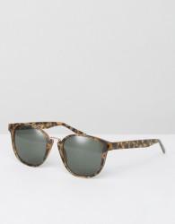 AJ Morgan Round Sunglasses In Tortoiseshell - Brown