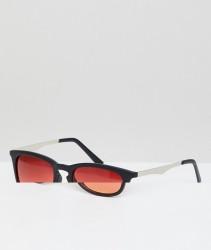 AJ Morgan Round Sunglasses With Orange Lens - Black