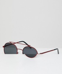 AJ Morgan Round Sunglasses With Red Lens - Red
