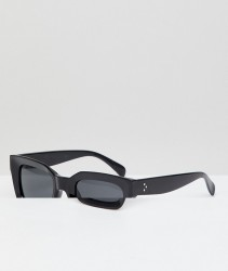 AJ Morgan Square Sunglasses In Black - Black
