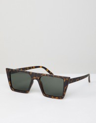 AJ Morgan Square Sunglasses In Matte Tort - Brown
