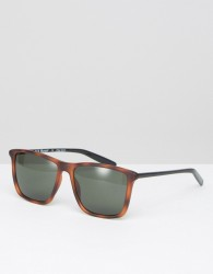 AJ Morgan Square Sunglasses With Contrast Sides - Brown
