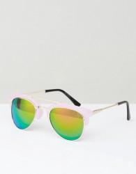 AJ Morgan Sunglasses With Pink Mirror Frame - Pink