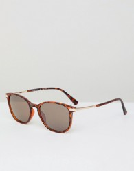 AJ Morgan tort frame square & retro sunglasses - Brown