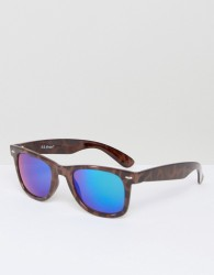 AJ Morgan Traction Square Sunglasses In Tort - Brown